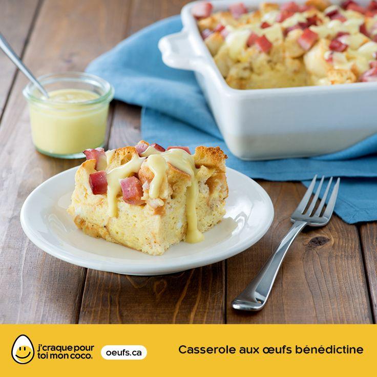 Casserole aux œufs bénédictine | lesoeufs.ca | #Oeufs