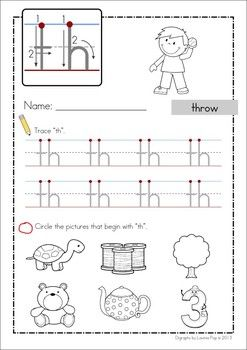 """""""th"""" Digraph 20 Games-Activities-Worksheets. Handwriting and Beginning Sounds worksheet included in the unit."""