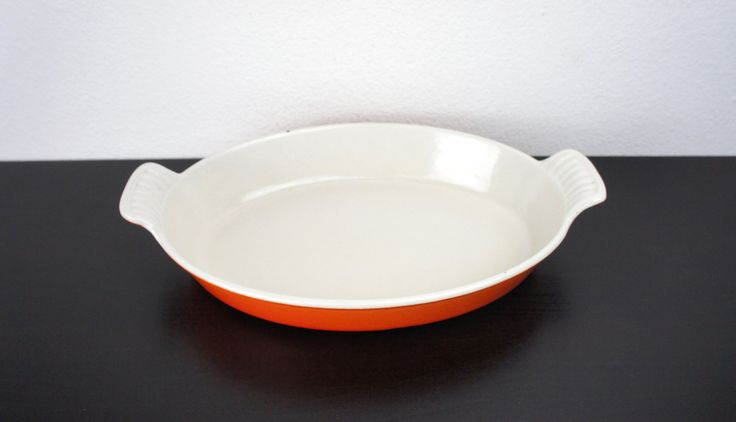 Vintage Orange Le Creuset Oval Au Gratin with Handles #24 ...