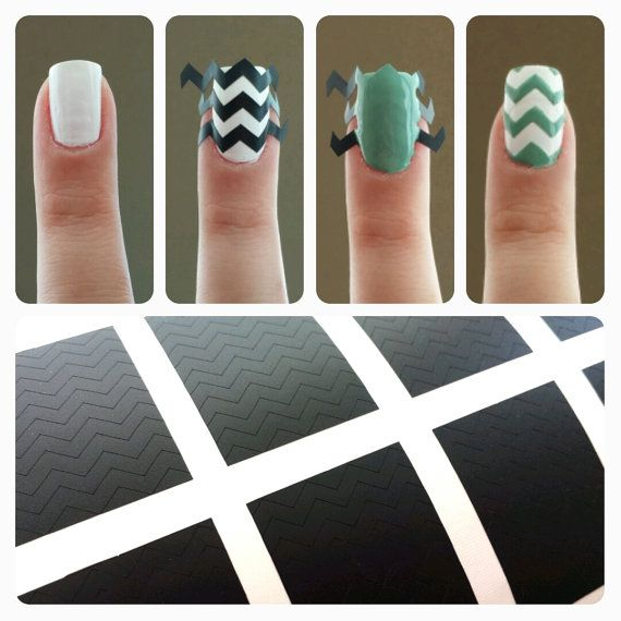 Chevron Zig Zag Nail Vinyls Fingernail Decals Make Me
