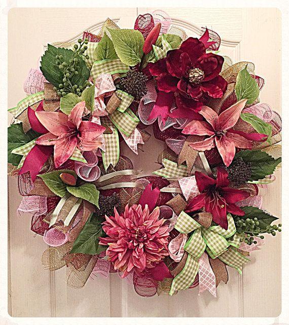 710 best wreaths images on pinterest flower crown mesh wreaths and spring wreaths. Black Bedroom Furniture Sets. Home Design Ideas