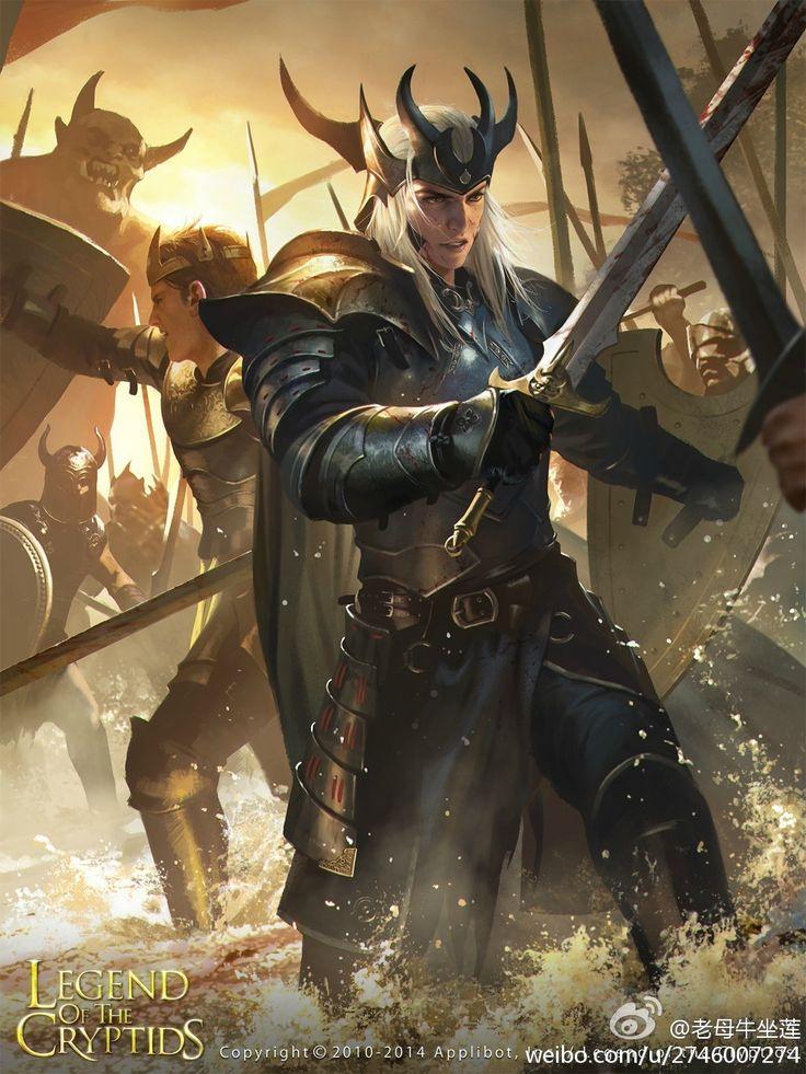 Artist: Wang Lei aka Jack Wang (Concept Art House) - Title: Unknown - Card: King Heathcote the Rival