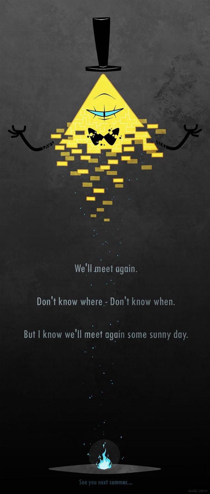 Bill cipher Quando você cria esperanças de que Gravity Falls vai ter uma nova temporada ●ω●
