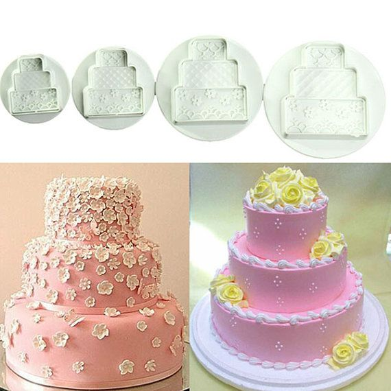 4Pcs Cake Decorating Tools Cookies Fondant by RUSTIKOcakeDecoratio