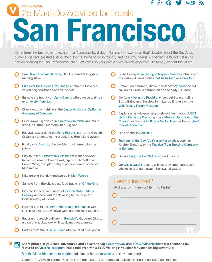 Bay Area locals! Plan a staycation this summer with our #SanFrancisco Must-Do Activities.