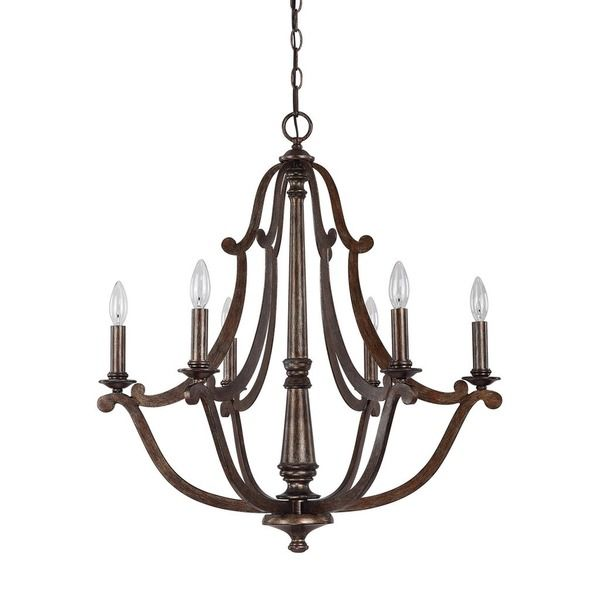 245 best lodge style lighting images on pinterest chandelier capital lighting corday collection 6 light rustic chandelier aloadofball Images