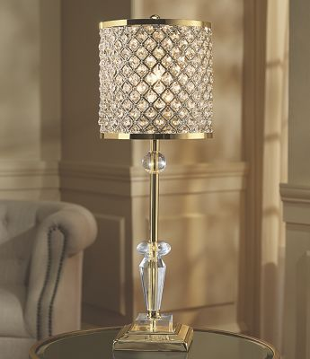 Crystal Table Lamp From Midnight Velvet