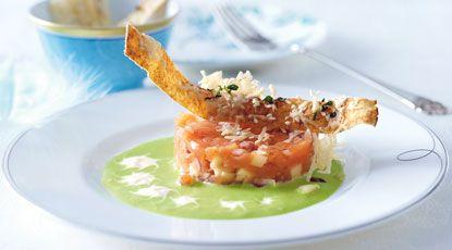 Appel-zalmtartaar met een wasabisausje | foodies magazine