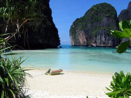 The perfect beach, Phi Phi Leh Island, near Phuket, Thailand. This is where the movie The Beach was made.