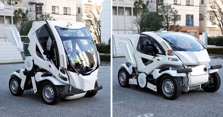 Новое двухместное транспортное средство, складывается в еще более компактную форму и может «вписаться» в самые узкие парковочные места.
