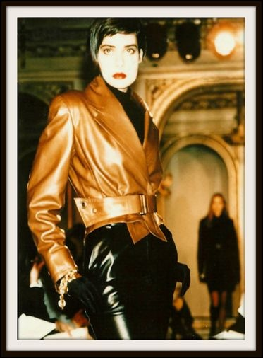 Cristina Cordula is an acknowledged re-looking expert for french TV M6, but she had another life as a supermodel here she sports one leather outfit for me at Angelina the posh tearoom in Paris ph Aramy Machry
