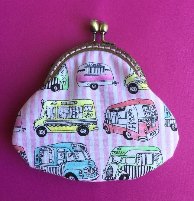 Ice Cream  Van Themed Fabric Clasp Coin Purse £10.00