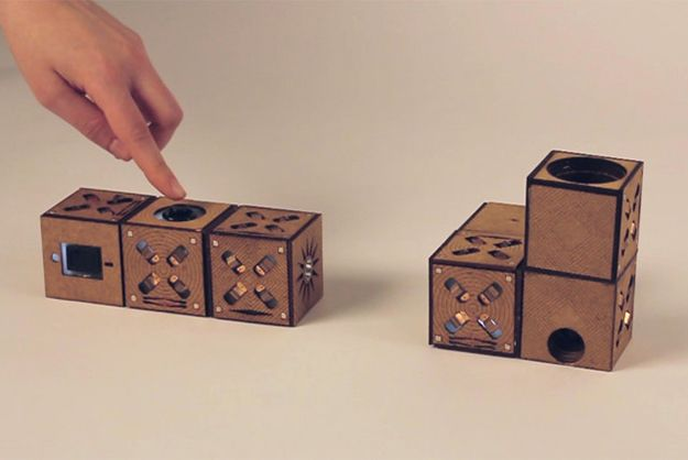 Arduino laden building blocks add digital effects to basic