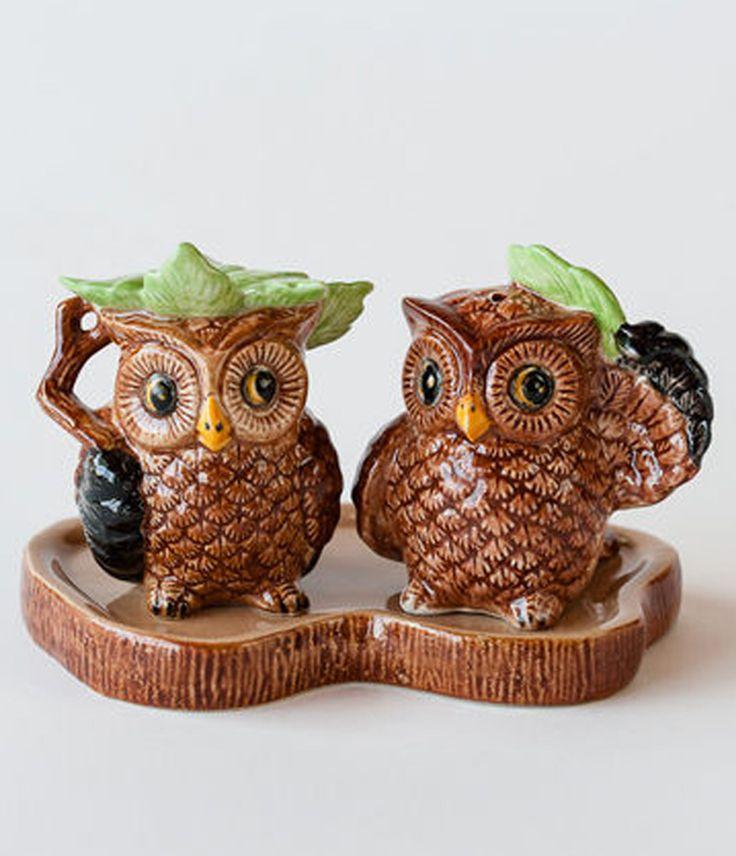 Owl Salt & Pepper Shaker Set