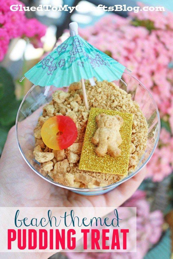 Beach Themed Pudding Snack Diy Beach Theme Snacks Diy Snacks