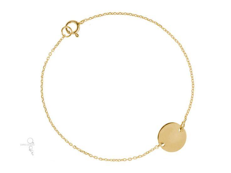 """Armband """"PURE"""", 925 Sterling Silber vergoldet  von Capro Colours auf DaWanda.com"""