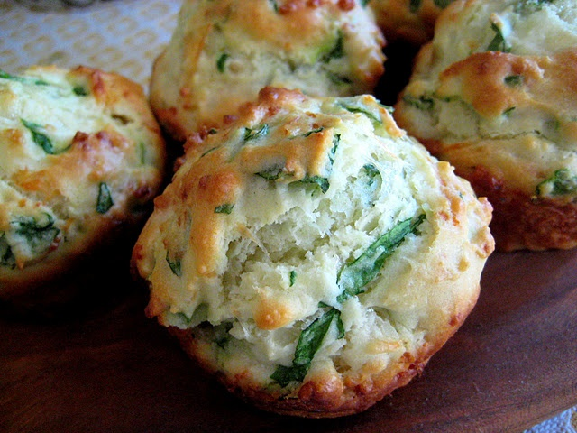 Spinach and swiss biscuit