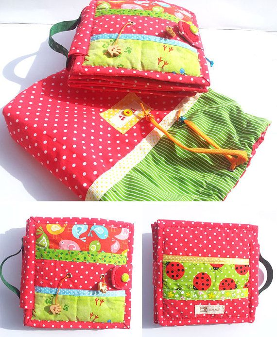 Tactile book  fabric soft book for baby by TomToy on Etsy, $85.00