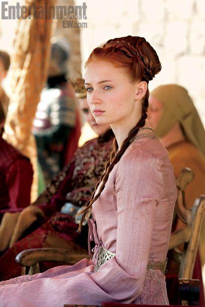 Sansa Stark (Sophie Turner) behind the scenes of Game of Thrones season 2