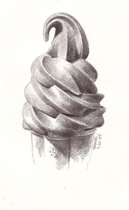 mhsartdrawingM - Ice Cream Cone and