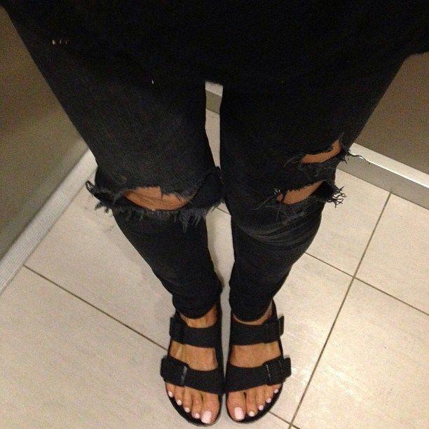 1000 id es sur le th me jean trou sur pinterest jeans cow girl tenue d contract es pour le - Jean blanc troue ...