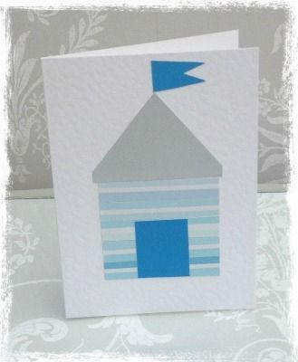 Handmade Card - The Beach Hut  £2.50