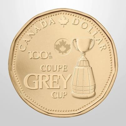 Canadian Coin Collection: 2012 - The 100th Grey Cup Loonie