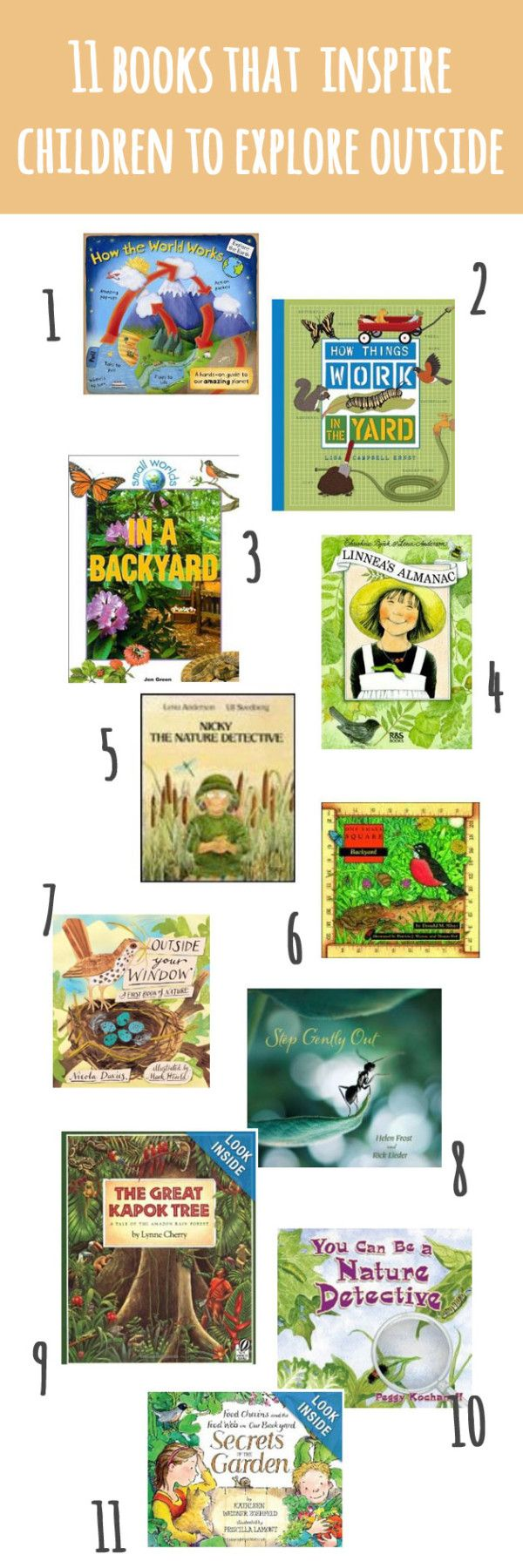 11 Picture Books that Inspire Children to Explore Outsideby playfullearning.  #Books #Kids #Nature
