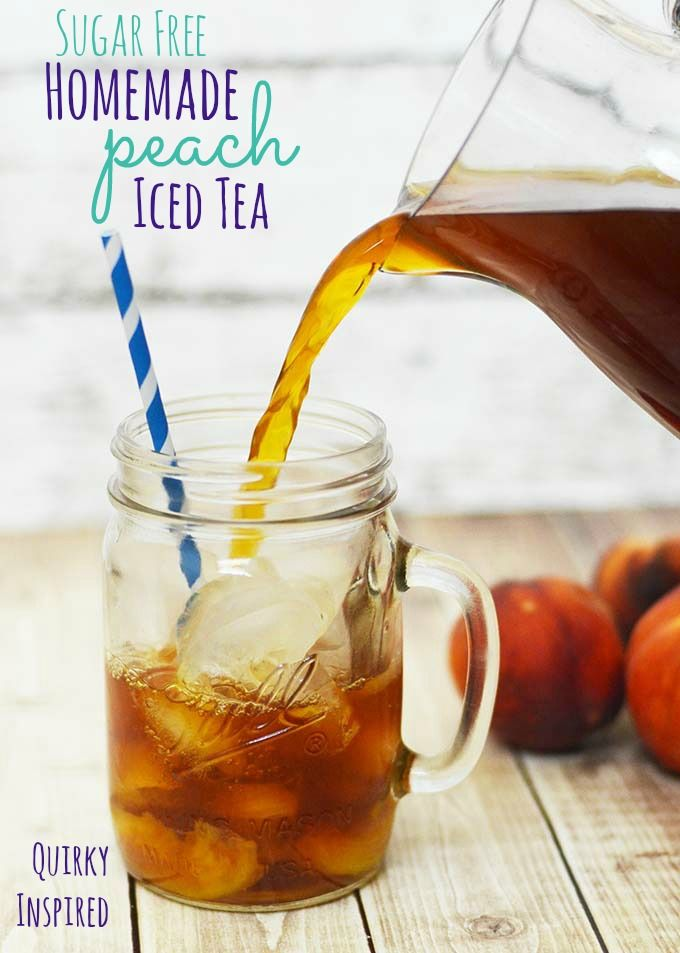 This sugar free homemade iced tea is perfect with any meal. It's candida diet friendly. No artificial sweetners, Homemade peach iced tea is one of my favorite drinks. It's so good with any meal, and it reminds me of home :) Click here for the recipe plus get 20% off Lipton Tea coupon! #ad #bemoretea #boostmealtime