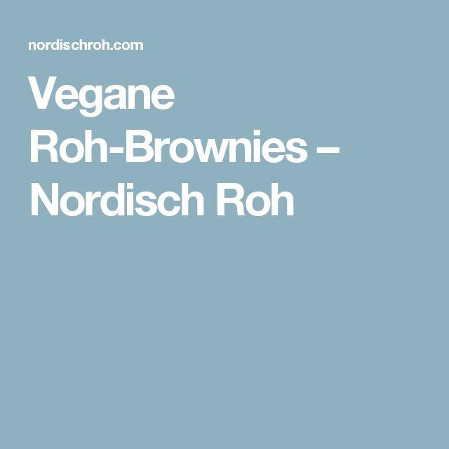 Vegane Roh-Brownies – Nordisch Roh