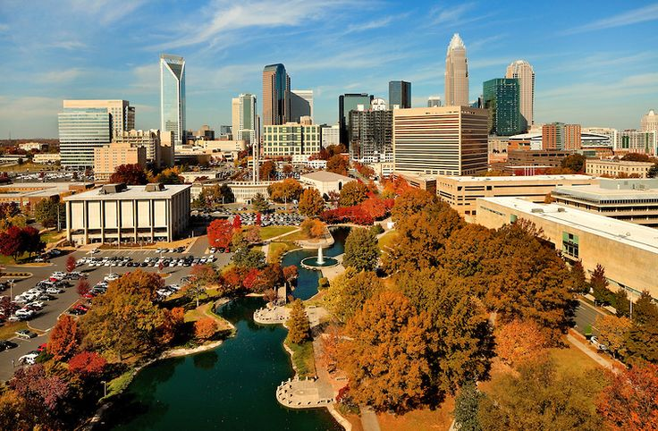 charlotte nc fall color an autumn scene in charlotte north carolina as shown from overhead. Black Bedroom Furniture Sets. Home Design Ideas