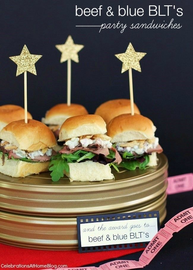 Mini Party Sandwiches | Beef Blue Cheese — Celebrations at Home