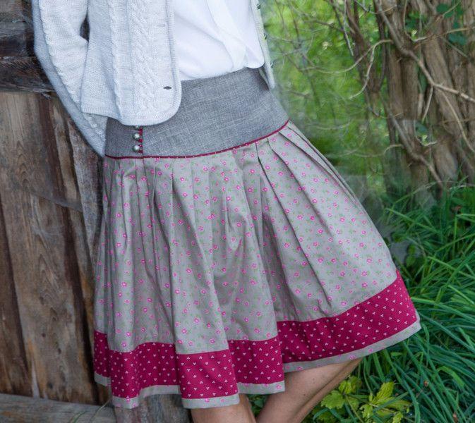 3bbe538363d6e3 Faltenröcke - Nähservice für bay. Trachtenrock für Frauen - ein  Designerstück von wallnerhilde bei DaWanda