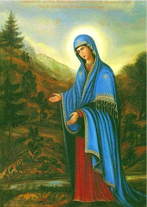 """Ícone da Mãe de Deus """"Puhtitsa"""" (""""A origem"""")"""