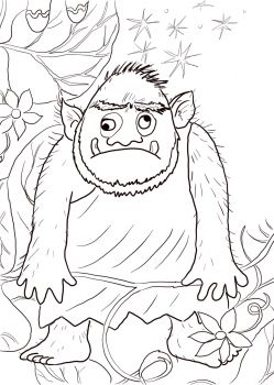 Giant from Jack and the Beanstalk coloring page | Super Coloring