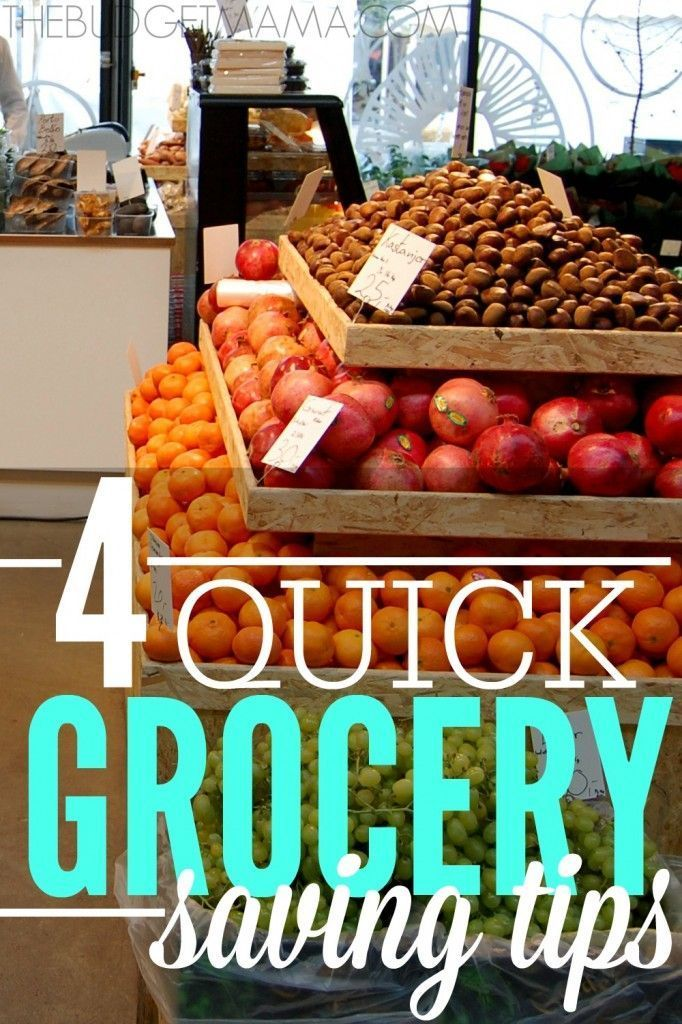 These four quick grocery saving tips will help you slash your grocery budget and help you keep your sanity! grocery budgets