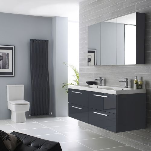 Create an on-trend bathroom with the Hudson Reed Quartet vanity unit with double sinks