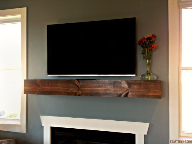 How To Make A Nice Thick Beam Fireplace Mantle Mantel