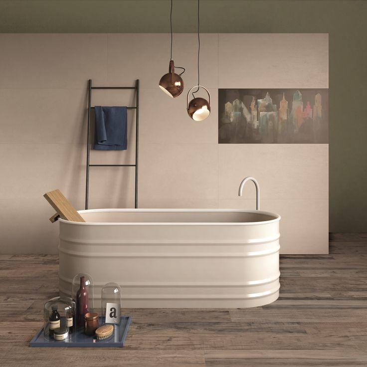 DO UP #abkemozioni #wall #tiles cover Sabbia 60x120 cm #decoro cover City, #tile #ceramics #pattern #graphic #interior #homedecor #bathroom #gres #porcellanato
