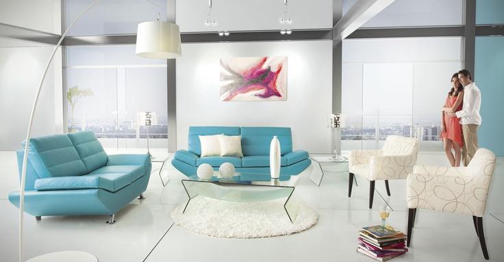 Sala burdeos turquesa de placencia muebles salas for Decoracion de salas en turquesa