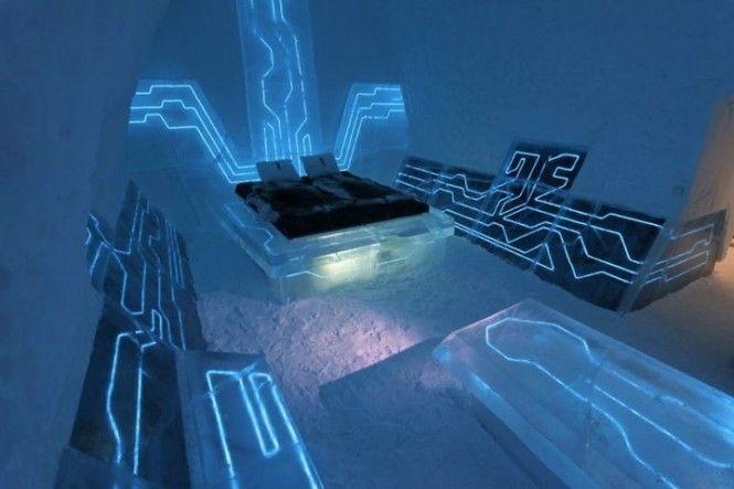 habitación dormitorio cama de hielo wacky ice bedroom hotel original decoración decoration miraquechulo