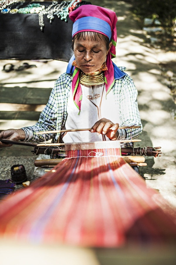 woman at work in burma