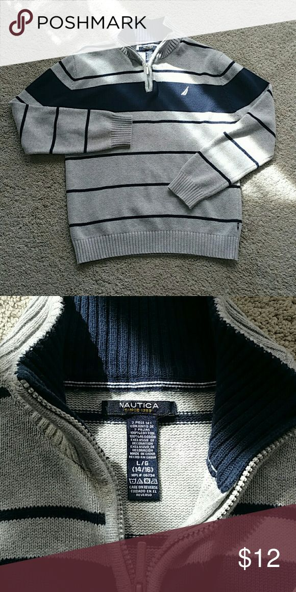 100% Cotton Boy's Sweater.  Large 14/16 Gently used,  dressy, sweater.  Bundle & $ave! Nautica Shirts & Tops Sweaters