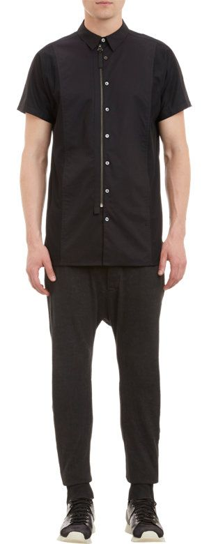 Zip, button, mesh panel - Helmut Lang