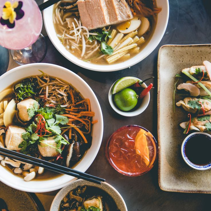 #SaigonSuzy #FoodPhotography #FoodStyling #TofuRamen #PorkRamen #PotStickers #Cocktails