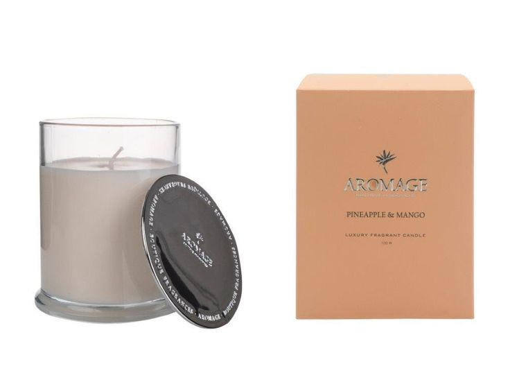 Aromage Luxury Fragrant Candle 100g - Pineapple & Mango  #Luxury #Bestprices #madeinaustralia #reed #diffuser #soy #oils #premiumquality #candles #thefragranceroom