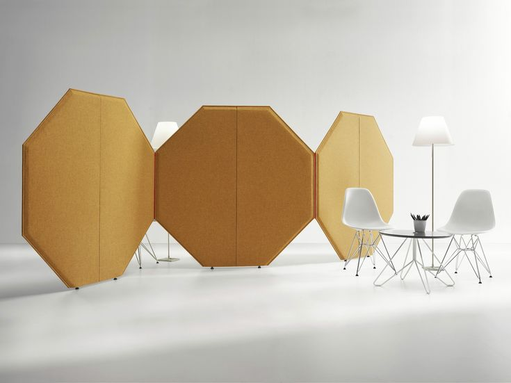 Free standing modular workstation screen CONCERTO by LvB Acoustics design Pierfrancesco Rosada