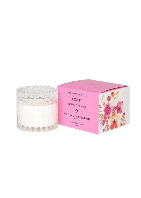 Mrs Darcy Petite Agate Burnt Caramel Crystal Candle