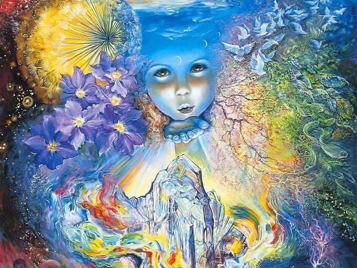 Добрые и светлые, картины Джозефины Уолл оставляют ощущения волшебного сна, сказки, потрясающей и фантастичной.