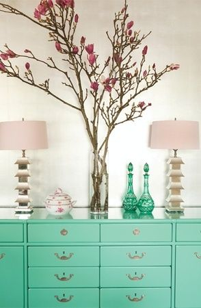 ColorDecor, Ideas, Hillary Thomas, Painting Furniture, Green, Colors, Than, Interiors Design, Dressers